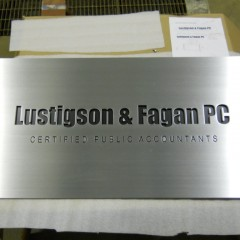 Lustigson & Fagan PC Company Sign