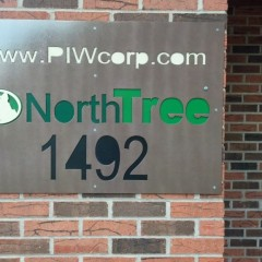 NorthTree Sign, waterjetcut